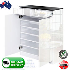 High Gloss Shoe Cabinet Rack Storage Organiser Shelf Cupboard Chest Black White