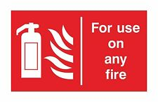 1x FOR USE ON ANY FIRE Warning Sticker Decal for Extinguisher Door Home Store