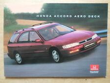HONDA ACCORD AERODECK orig 1996 UK Mkt Glossy Sales Brochure