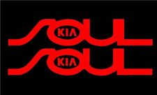 2X KIA SOUL Decal Sticker Pair Window Car