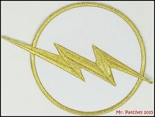 "The Flash Chest Emblem White Logo Patch 4.5"" Costume DC Comics FREE Shipping"