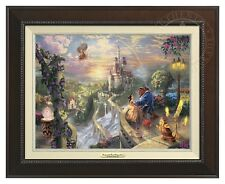 BEAUTY AND THE BEAST - Thomas Kinkade Canvas Classic (Espresso Frame)