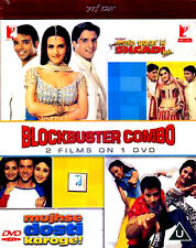 BLOCKBUSTER COMBO 2 FILMS ON 1 DVD - NEW BOLLYWOOD  DVD -FREE UK POST