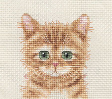 GINGER CAT, KITTEN ~ Full counted cross stitch kit + All materials