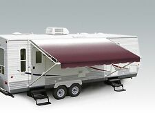 "18' Burgundy Fade w/Wht W/G, RV Patio Awning Repl. fabric canopy (Fabric:17'2"")"