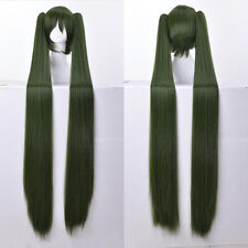 Vocaloid Hatsune Miku 48'' 120cm Long Straight Army Green Cosplay Hair Wig N034