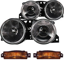 Halogen Headlight Set BMW 3 E30 09.82-03.92 H1/H1 with indicator KTC