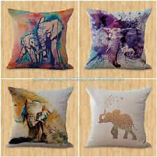 set of 4 cushion covers lucky Indian elephant decorative pillow case covers