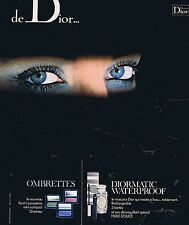 PUBLICITE ADVERTISING 025 1977 DIOR maquillage