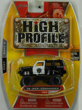 2006 Jeep Commander Safety Service tuning black / white High Profile 1:64 Jada