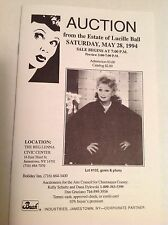 Lucille Ball May 28, 1994 Estate Auction Catalog I LOVE LUCY
