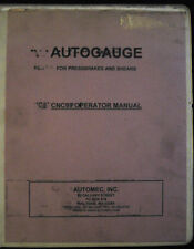 Autogauge CNC 99, Press Brakes/Shears, Operator Manual