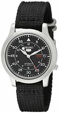 Seiko Men's SNK809 Seiko 5 Automatic Stainless Steel Watch with Black Canvas