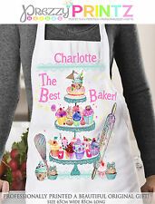 Personalised Apron Womans CupCake Baker Birthday Christmas Mothers Birthday Gift