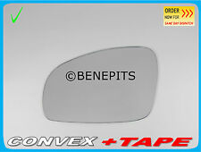 Left Side Convex Wing Mirror Glass SKODA FABIA 2007-2015 +Strong Tape #82