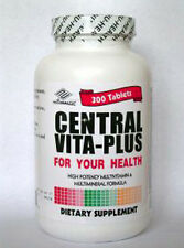 3 Bottles  Central Vita- Plus Multi-Vitamins,300 tabs/bottle Saving Over Centrum