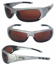 Choppers Motorcycle Riding Glasses Foam Padded Sunglasses-  Silver Frame C47