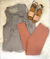 J BRAND Skinny Leg in TIGERS EYE peach pink nude jegging jeans 30