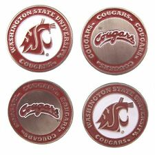 Washington State Cougars Double Sided WSU Golf Ball Markers (Set of 4)