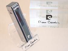 Pierre Cardin Paris Black Lacquer And Chrome Soft Flame Lighter Luxury Boxed