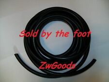 "1/4"" ID 3/8"" OD 1/16 wall Latex Tubing Surgical Rubber Tube black By The Foot"