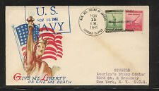 Leeward  Islands   US  Marine detach  1941 cachet cover          KL0203
