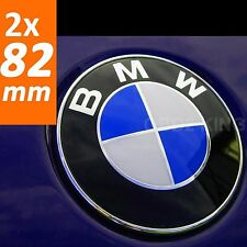 2x BMW 82mm blue white emblem (2pcs) hood or trunk e46 e60 e61 e39 e91 e92 e93