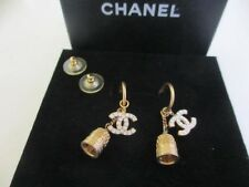 Authentic CHANEL CC pierced earrings (Bell)