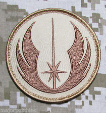 JEDI ORDER STAR WARS LOGO USA MILITARY TACTICAL ARMY MORALE DESERT VELCRO PATCH