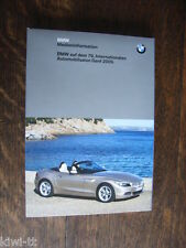 BMW Genf 2009 Pressemappe / Press-kit, D