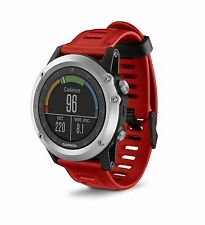 Garmin fenix 3 Silver with Red Band GPS Outdoor Navigation Watch 010-01338-05