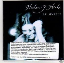 (D742) Helen J Hicks, Be Myself - DJ CD