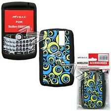Blue Groove Rubber Skin Case for BlackBerry Curve 8330