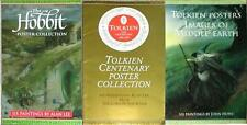 J.R.R. TOLKIEN ~ MIDDLE EARTH POSTER COLLECTION ~ 3 ART PORTFOLIOS ~ MOST OOP!