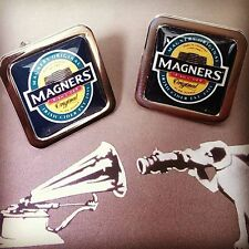 Unique! MAGNERS CIDER CUFFLINKS  chrome IRISH pint PUB apples DESIGNER gift DAD