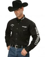 WRANGLER Mens JACK DANIEL'S Fully Embroidered Shirt - 2XL - LTD ED - Logo