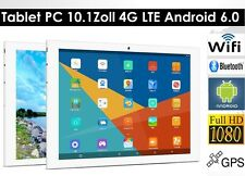 64gb 10.1 pulgadas dual sim, cámara WLAN, 4g, LTE, GPS android 6.0, Tablet PC, plata, HD