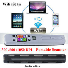 Hi-Speed Wifi iScan Portable A4 Scanner for Document Photo Receipt Book 1050DPI