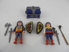 PLAYMOBIL Castle Knight Figures weapons armor lot of 2 guys imagine play lot P11