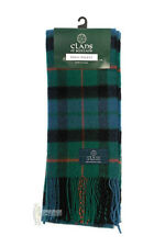 PURE NEW WOOL TARTAN CLAN SCARF - GUNN ANCIENT
