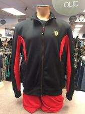 PUMA FERRARI BLACK AND RED TRACK JACKET & HAT - SIZE LARGE