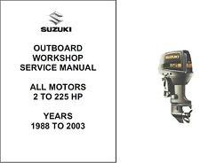 1988-2003 Suzuki ALL Outboard MOTORS 2 hp - 225 hp Service Repair Manual CD