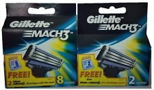 Gillette Mach3 Blades - 8 Cartridges Free Pack of 2