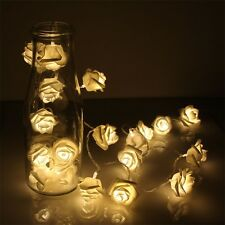 20 LED Rose Flower Warm White Fairy String Light Xmas Party Battery Operated LL