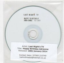 (FC110) Last Night's TV, Happy Birthday Adrienne - 2014 DJ CD