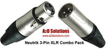 Neutrik XLR 3-Pin Combo Pack - 25 Male / 25 Female Connectors