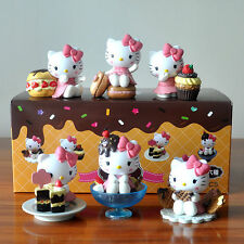 New Party Queen Hello Kitty Figure 6pcs/Lot Chocolate Beautiful Birthday Gift