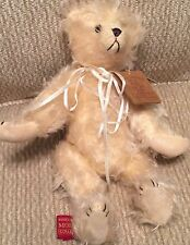 """MARY MEYER Mohair Collection 1995 CHANNING 10.5"""" TEDDY BEAR with Mint Tag LE"""