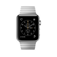 NEW Apple Watch Series 2 42mm Stainless Steel Case Link Bracelet Band MNPT2LL/A