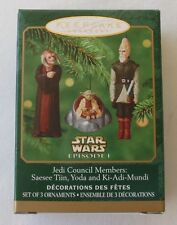 Hallmark 2000 Star Wars Episode I Mini Jedi Council Members Christmas Ornament